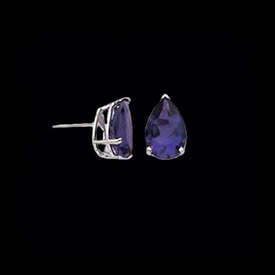 Pear Shaped Amethyst Earrings