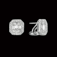 Old World Design Diamond Earrings