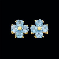 Adorable Blue Topaz Heart Earrings