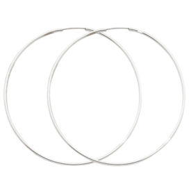 Hoop Earrings Classic White Gold Endless Hoops