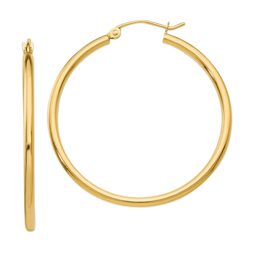 Classic 2mm Tube Hoop Earring