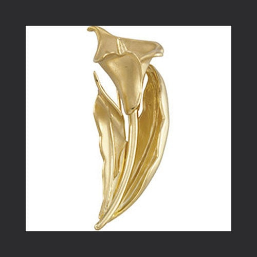 Gold Calla Lily Brooch