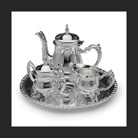 Gifts Silver Plated Mini Coffee Set