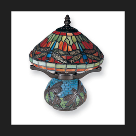 Dale Tiffany Red Dragon Table Lamp