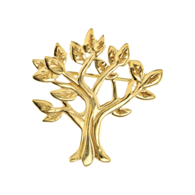 Brooches Gold Family Tree Brooch
