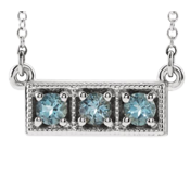 Aquamarine White Gold Necklace