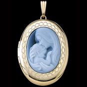 Gold Cameo Locket