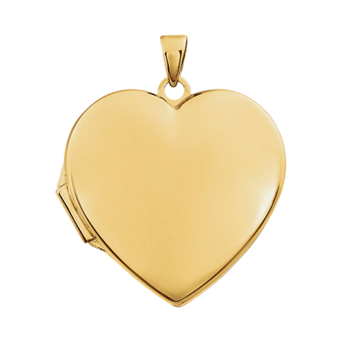 14k Gold Heart Locket