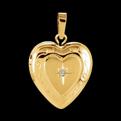 Sacred Star Heart Locket