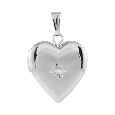 Dainty Diamond Heart Locket
