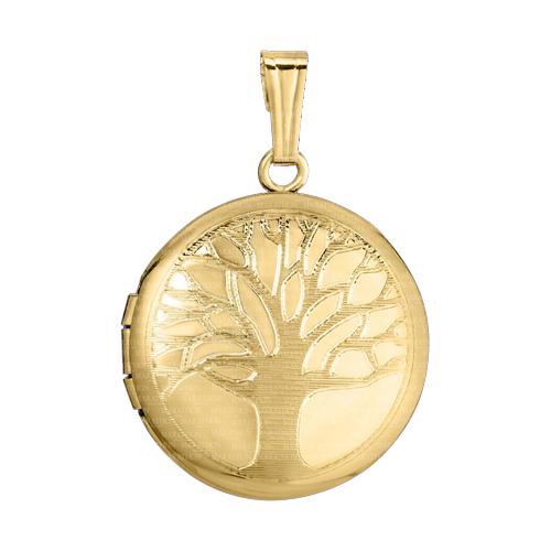 14k Gold Tree Locket