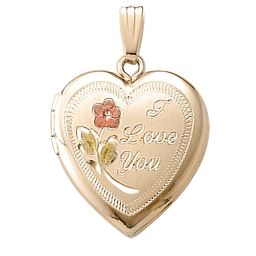 "Gold Heart ""I Love You"" Locket"