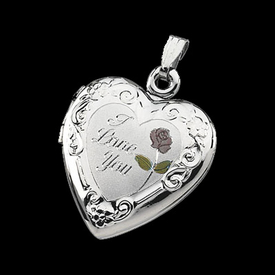"Silver ""I Love You"" Locket"