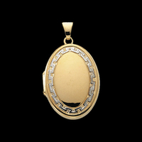 Stylish Two Tone Gold Locket