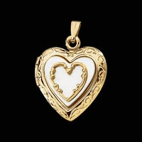 Mother of Pearl Gold Locket