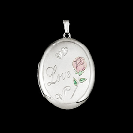 Silver Love & Rose Locket