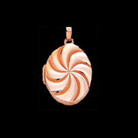Peppermint Swirl Gold Locket