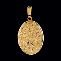 Oval Locket Floral Design