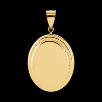 Gold Oval Beaded Accent Locket