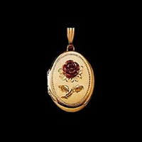 Red Rose Gold Locket