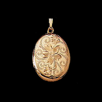 Gold Locket Floral Design