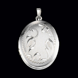 Sterling Silver Floral Locket