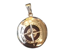 Gold Lockets 14k Gold Navigator Compass Locket