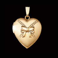 Heart Bow Gold Locket