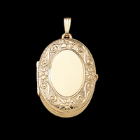 Floral Scroll Family Locket