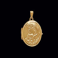 Mother Family Gold Locket