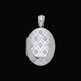 White Gold Lockets Heavy White Gold Diamond Locket