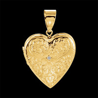 Flower Design Heart Locket