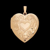 Heart Design Family Locket