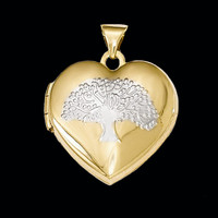 Gold Heart Locket Tree Center