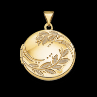Round Branch Engraved Locket