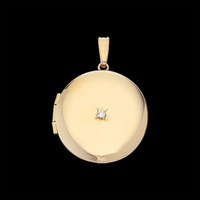 Gold Diamond Round Locket