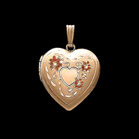 Pretty Floral Heart Locket
