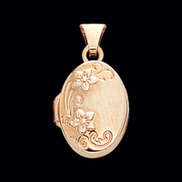 Embossed Floral Small Locket
