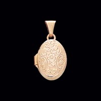 Small Floral Gold Locket