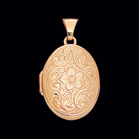 Gold Floral Family Locket