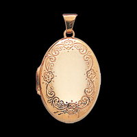 Charming Border Gold Locket
