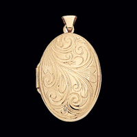 Victorian Design Scroll Locket