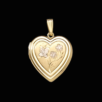 Butterfly Heart Gold Locket
