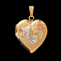"Gold Heart ""Mom"" Locket"