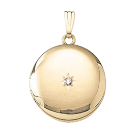 Diamond Lockets Gold Diamond Round Locket