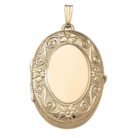 Family Lockets Floral Scroll Family Locket