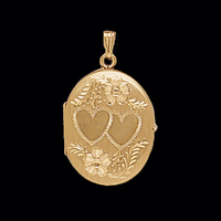 Gold Oval 4 Photo Locket