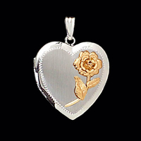 White Gold Rose Locket