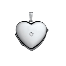 Family Diamond Accent Heart Locket