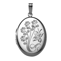 Floral & Butterfly Locket